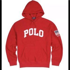 Polo Ralph Lauren fleece hoodie USA patch🔥🔥